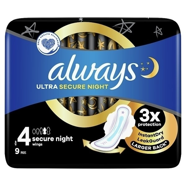 ALWAYS ULTRA SECURE NIGHT PADS