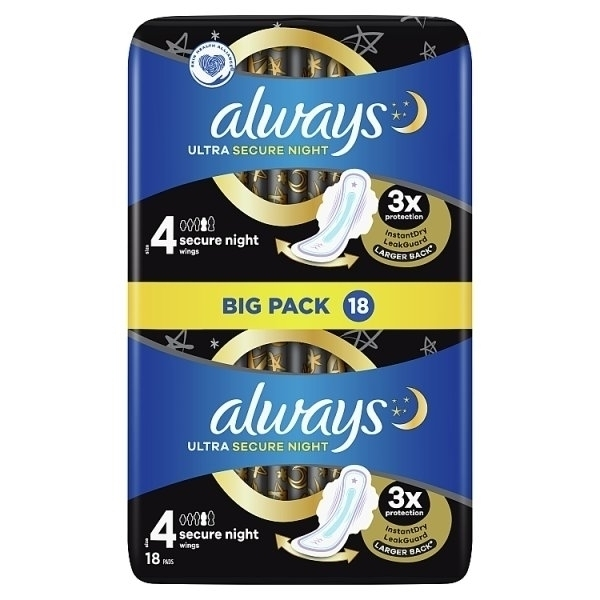 ALWAYS ULTRA SECURE NIGHT TOWELS SIZE 4 PS (BULK ONLY)