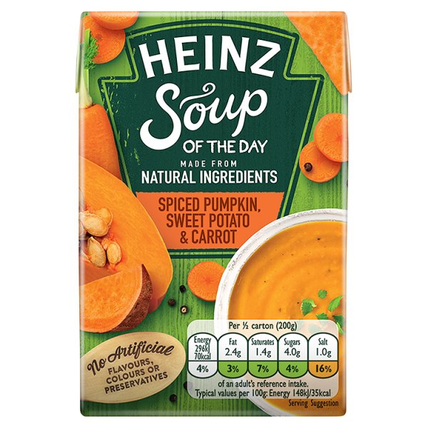 HEINZ PUMPKIN/CARROT/SWEET POTATO SOUP