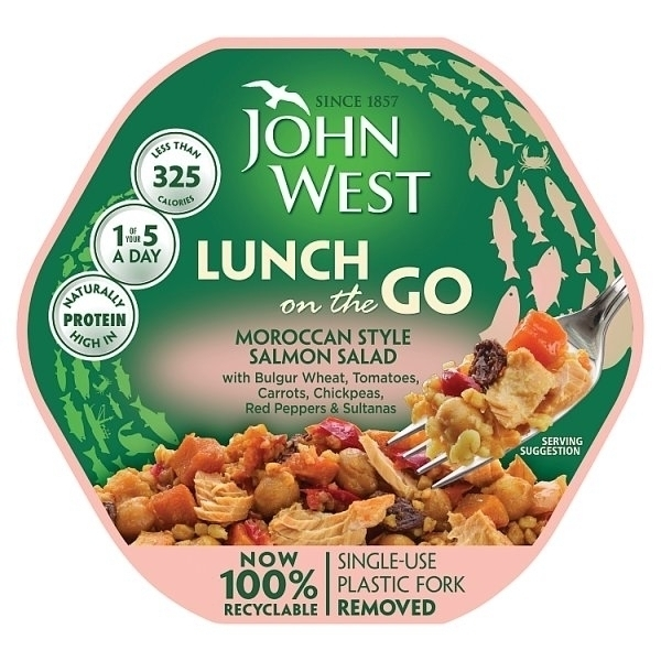 JOHN WEST LUNCH ON THE GO MOROCCAN STYLE SALMON SALAD