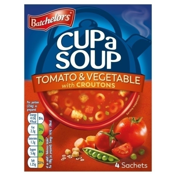 BATCHELORS CUP A SOUP GRANULES TOMATO & VEGETABLE