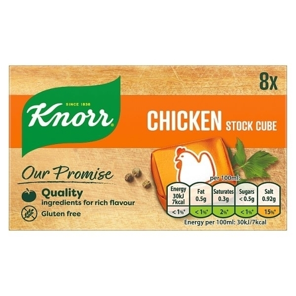 KNORR STOCK CUBE CHICKEN 8S