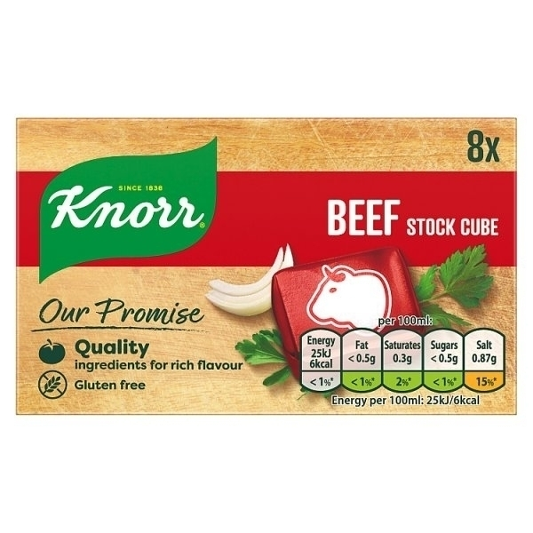 KNORR STOCK CUBE BEEF 8S