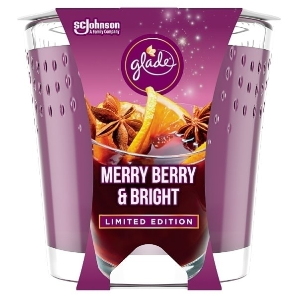 GLADE CANDLE MERRY BERRY & BRIGHT 129G