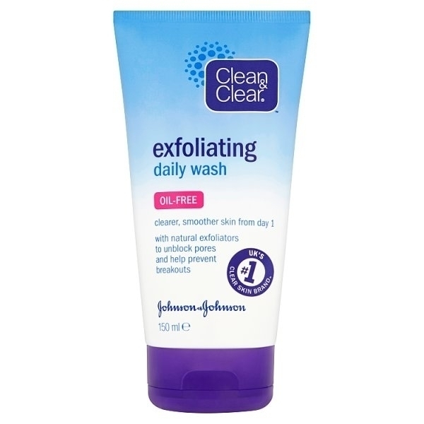 JOHNSONS CLEAN N CLEAR EXFOLIATING DAILY WASH