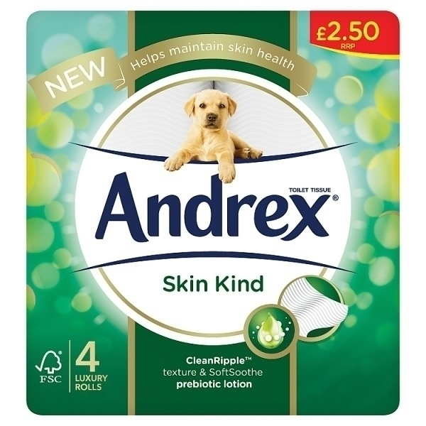 ANDREX 4 ROLL SKIN KIND PM£2.50