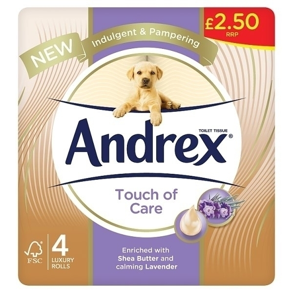ANDREX TOUCH OF CARE PM£2.50