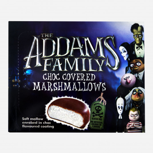 ADDAMS FAMILY CHOCOLATE COVERED  MONSTER MALLOWS 10PK PS
