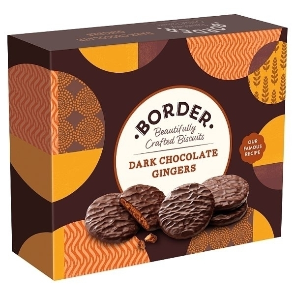 BORDER DARK CHOCOLATE GINGER BISCUITS PS