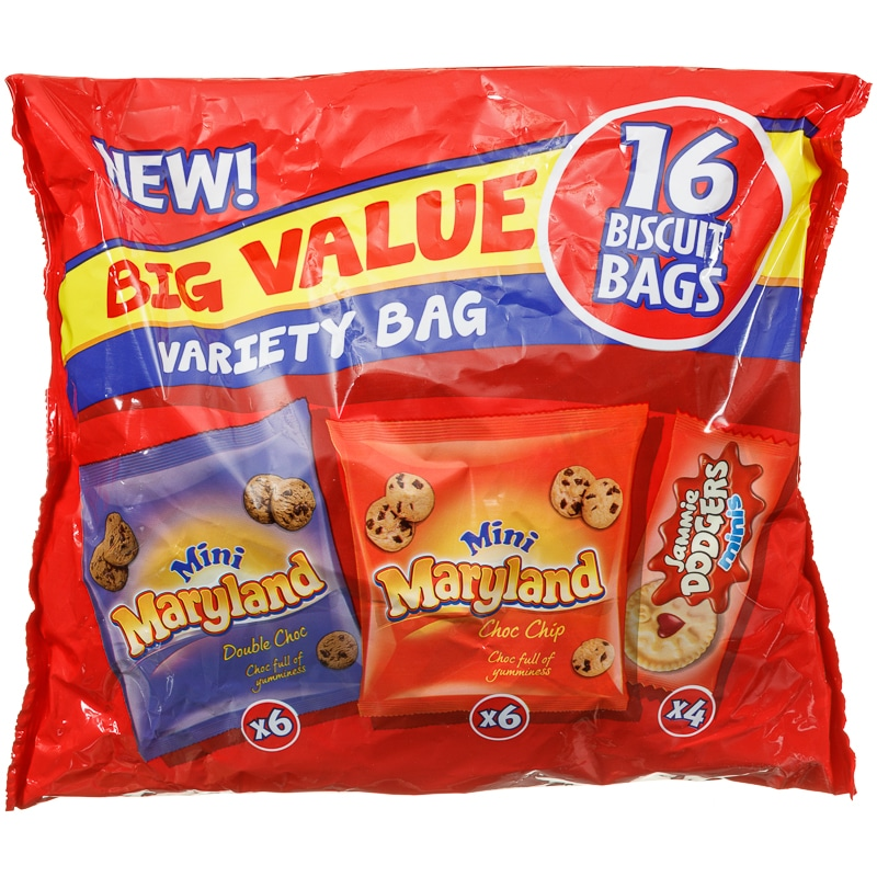 BURTONS VARIETY 16 PACK MINI BISCUITS PS