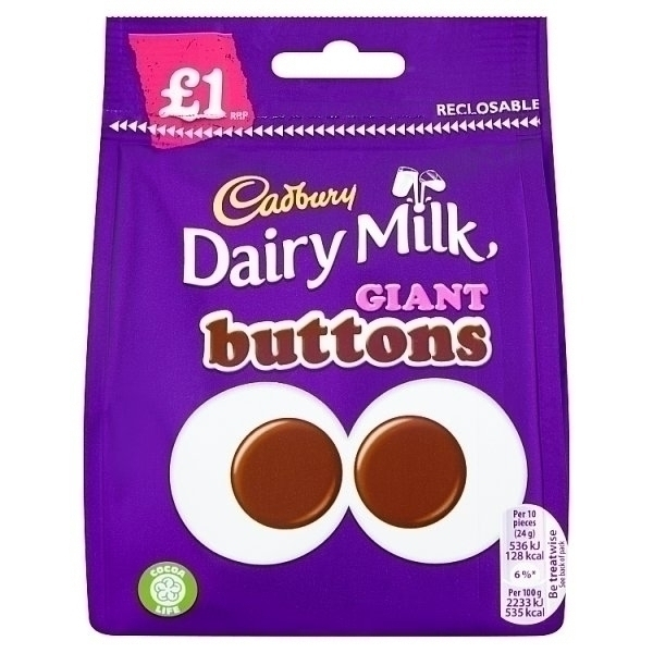 CADBURY GIANT BUTTONS PM£1