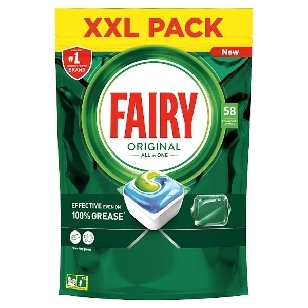 FAIRY ALL IN ONE ORIGINAL DISHWASHER TABLETS 58 PK