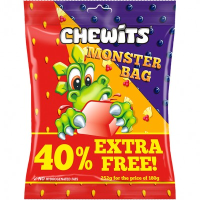 CHEWITS MONSTER BAG 40% EXTRA FREE