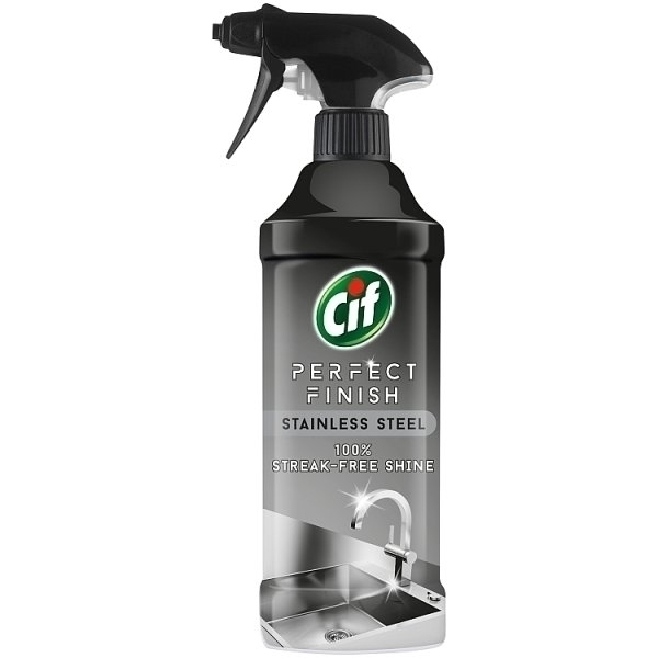 CIF STAINLESS STEEL CLEANER 435ML