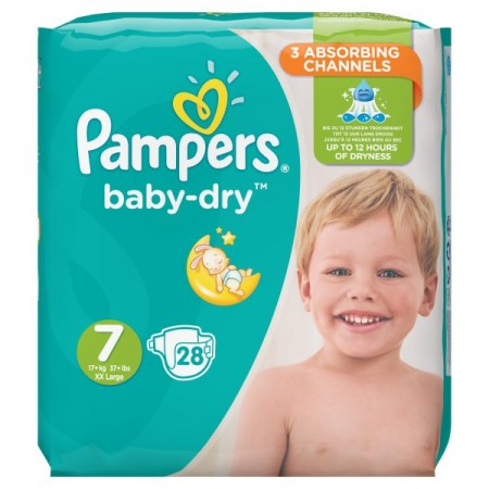 PAMPERS BABYDRY ESSENTIAL SIZE 7